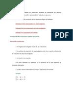 Resolver Un Sistema de Ecuaciones Consiste en Encontrar Los Valores Desconocidos de Las Variables Que Satisfacen Todas Las Ecuaciones
