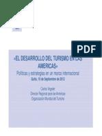 Conferencia Desarrollo Del Turismo Americas OMT