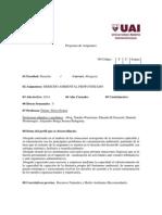 Optativa - Derecho Ambiental Profundizado