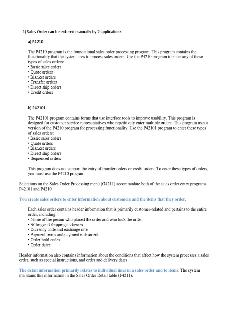 Sales Order Notes   Inventory   Invoice