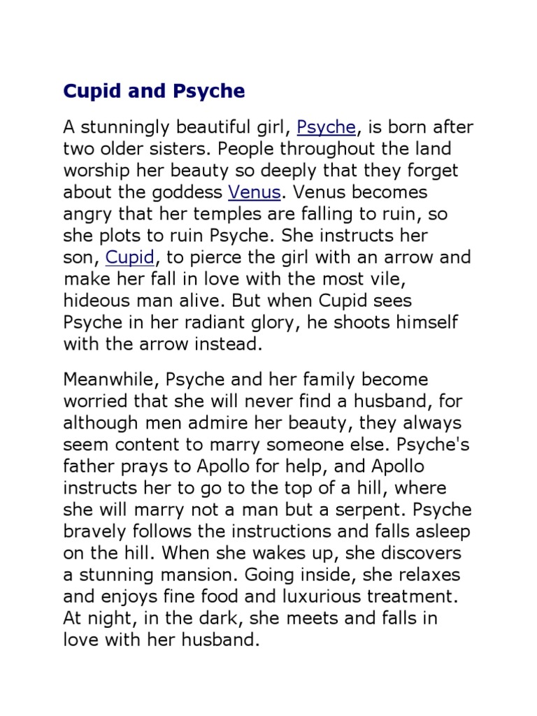 cupid and psyche summary