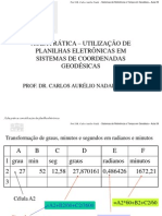 Aula02 - Pratica de Excel Coordenadas Geodesicas