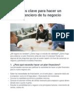10 Puntos Clave Para Hacer Un Plan Financiero de Tu Negocio (2)
