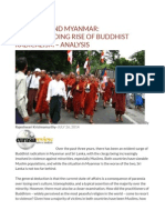 Sri Lanka and Myanmar Understanding Rise of Buddhist Radicalism – Analysis