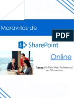 Maravillas de Sharepoint Online Sitio Web en 30 Min