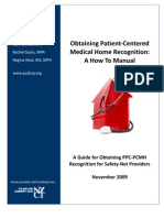 Obtaining Patient-Centered Medical Home