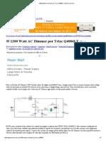 1200 Watt AC Dimmer Por Triac Q4006LT _ Eleccircuit