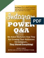 Instagram Power QA