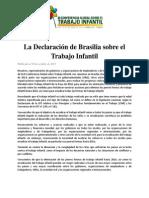 La Declaracion de Brasilia Sobre El Trabajo Infantil