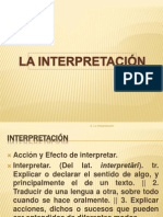 La Interpretación