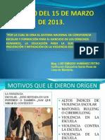 Presentación Ley 1620 Del 15 de Marzo de 2013