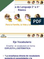 Vocabulario en Integración Con Manejo de La Lengua