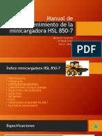 Manual de Mantenimiento de La Minicargadora HSL 850-7