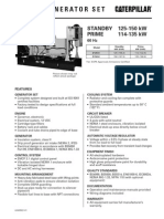 Caterpillar D125-6 Spec Sheet Open