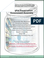 A Digital Preservation Government Assembly