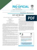 LEY 1.437 DIARIO OFICIAL 47.956 DE 2011[1]