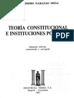 Teoria Constitucional e Instituciones Politicas Vladimiro Naranjo Mesa
