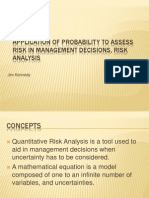 Application of Probability to Assess Risk in Management