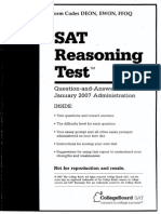 January 2007 SAT QAS