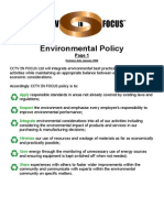 Enviromental Policy