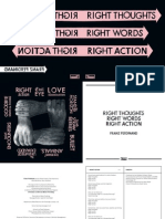Digital Booklet - Right Thoughts, Right Words, Right Action