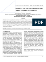 Treatment of Wastewater and Electricity Generation