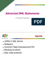 Lesson01_Advanced DML Statements