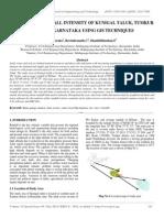 Analysis of Rainfall Intensity of Kunigal Taluk, Tumkur District, Karnataka Using Gis Techniques