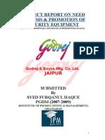 13166222 Project Report on Godrej Boyce Mfg Co Ltd by Furqan