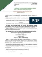 Ley Federal Para El Control de Sustancias Químicas Susceptibles de Desvío Para La Fabricación de Armas Químicas