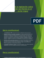 Análisis de La Legislación Sobre Planificación Territorial
