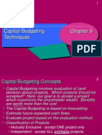 Techniques of Budgeting