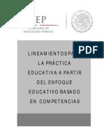LINEAMIENTOS Prac Educat Enfoque Basado en Competencias