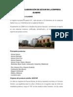 Proceso de Elaboración de Azúcar en La Empresa Guabirá