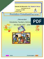 Periódico Estudiantil-Esc  Elpidio H  Rivera - Marzo 2008