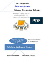 Relational Algebra and Calculas