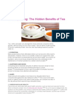 The hidden Benefits of Tea