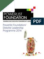 Brochure-2014 Powerlist Foundation Leadership Programme