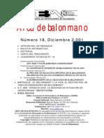 El Proceso de Iniciación Deportiva en El Balonmano Secuenciación de Contenidos Técnicos y Tácticos. Carlos Lago