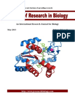 Journal of Research in Biology Volume 3 Issue 2