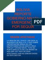 Bolivia Reporte Gobierno-NN.UU. Emergencia por Sequía