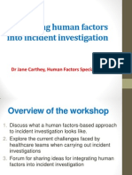Integrating Human Factors Into Incident Investigation
