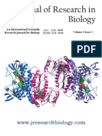 Journal of Research in Biology Volume 3 Issue 3