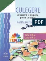 Carti Culegere.gazeta.matematica.junior Clasele.3 4 Ed.dph