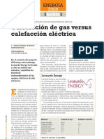 Eco-Design Calefaccion Gas vs Electrica