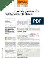 Eco-Design Calefaccion Gas vs Electrica