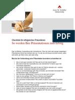 Checkliste für erfolgreiches Präsentieren