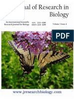 Journal of Research in Biology Volume 3 Issue 4