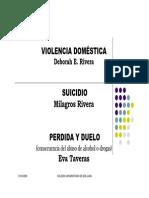 Violencia Doméstica - Suicidio