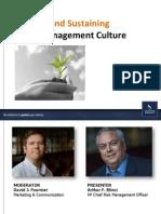 2013-0226-Creating Sustaining Risk Management Culture
